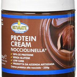 Protein Cream Nocciolinella – Crema Proteica Spalmabile Con Il 30% Di Proteine Del Siero Del Latte – Whey Isolate Microfiltrate – Senza Glutine –  Senza Zucchero – Low Carb – 250 g – Ultimate Italia