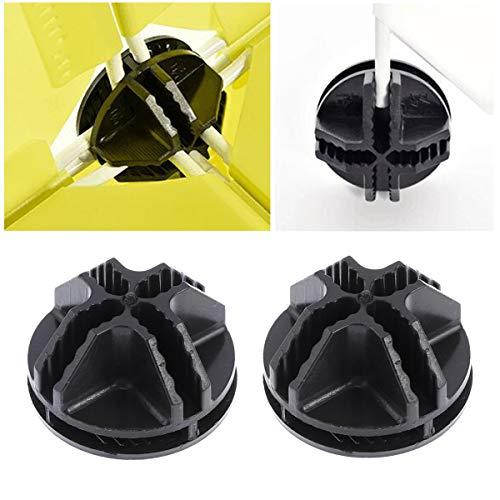 Vosarea, 20 connettori in plastica, per telai tubolari metallici di armadietti cubici (nero) 4