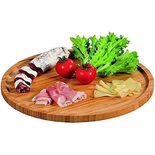 Kesper-Piatto da Pizza, in bambù, Colore: Marrone, 32 cm 4