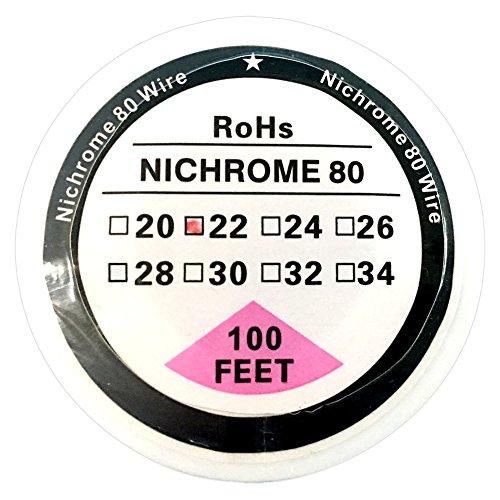 Filo di resistenza da 30,5 m, in nicromo 80, su bobina, con diametro da 20 a 34 AWG (da 0,81 mm a 0,15 mm) 2
