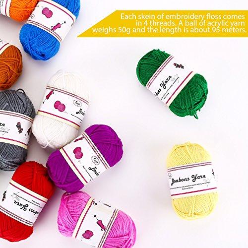 Gomitoli di Lana 600g (12x50g )Fuyit Filato Lana Filati Lana Acrylico 100% per uncinetto e lavori a maglia(12 Colori) 4
