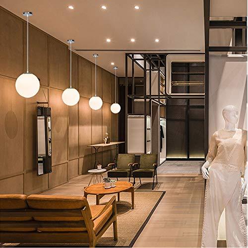 Lampadario con sfera di vetro, Lampada a sospensione, Lampada interna singola per Camera da letto, Soggiorno, Corridoio, Ristorante, Bar 1pcs (25CM) 10
