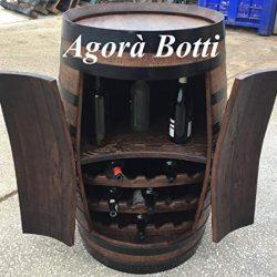 Agorà Botti Botte Cantinetta da Barrique con Due Ante e Struttura portabottiglie 2