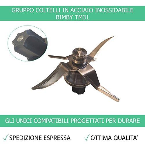 Gruppo Coltelli TM31 con Guarnizione Bimby Contempora Compatibile per TM31 – Garanzia 24 Mesi Figevida Ufficiale