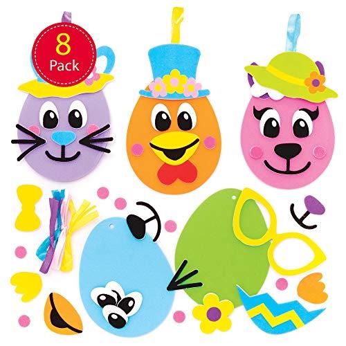 Kit Uova di Pasqua Facce Divertenti Baker Ross (confezione da 8) – Novità Giocattoli per bambini, regalini per feste, bottino o premi