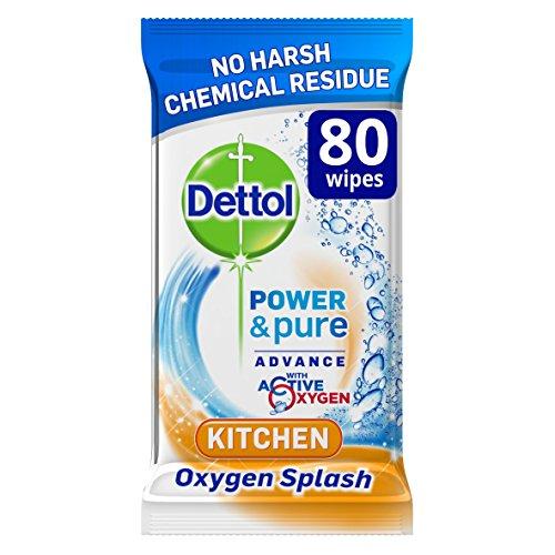Dettol 80 salviette per la pulizia e igiene in cucina, confezione da 4 (320 salviette)