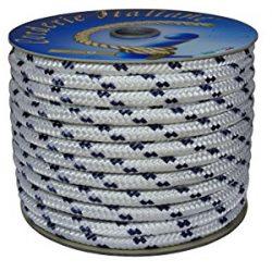 Corderie Italiane 006000747 Treccia Nautica 10MM-050MT, Bianco con Segnalino Blu
