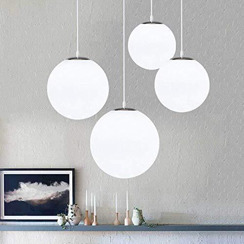 Lampadario con sfera di vetro, Lampada a sospensione, Lampada interna singola per Camera da letto, Soggiorno, Corridoio, Ristorante, Bar 1pcs (25CM)