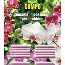 Compo 1197802005 Concime in Bastoncini per Orchidee, 20 Pezzi, Rosa, 0.5×14.4×24.3 cm