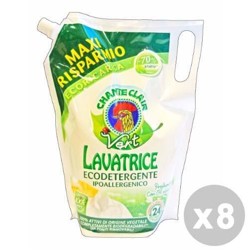 CHANTECLAIR Set 8 Chante Clair Detersivo Lavatrice Liquido 24lavaggi Ecologico ipoallergenico 2