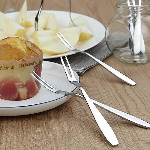 Gitany Forchette Da Dolce, 12 Pezzi Forchette Di Frutta, Mini Forcella Da Torta 3
