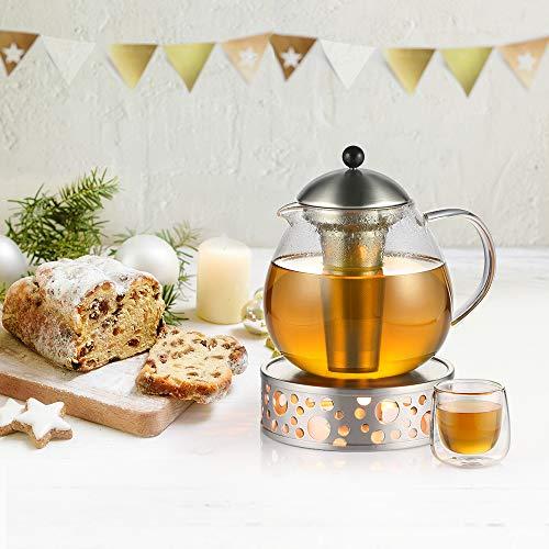 Glastal Scalda Teiera in acciaio inox fornello a candela per teiere 7