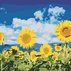 Kit per Dipinto a Olio su Tela Fai da Te, per Adulti e Bambini, da colorare seguendo i Numeri, 40,64 x 50,8 cm, Enjoy Sunshine