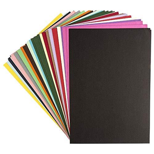 Kim Kranholdt – cartoncino in formato DIN A4, 220 g/mq, 100 fogli, 20 colori assortiti