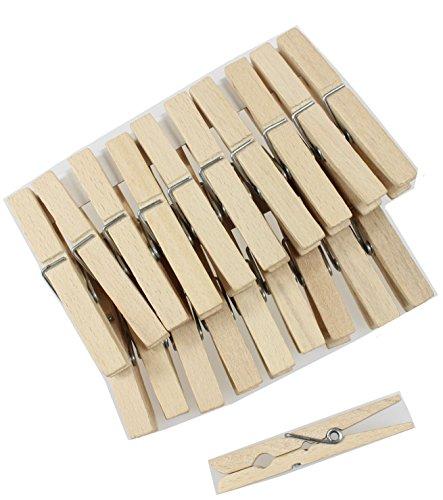 DB Gardentools Mollette per bucato, in legno, da appendere chiavi, 20 unità 6