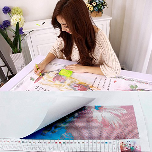 5D Diamond Painting kit completo drill DIY strass ricamo a punto croce Craft Arts for home Wall Decor Colorful Lotus 30x 40cm,pittura diamante diy 8