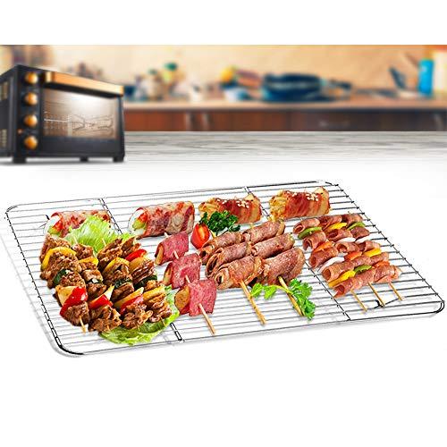 TeamFar – Set di 2 griglie di raffreddamento in acciaio INOX per forno, arrosti, grigliate, 39 x 29 x 1,5 cm, salutare e antiruggine, multiuso e lavabile in lavastoviglie, 2 stesse dimensioni 7