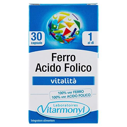 Integratore FERRO Vegavero® | 120 capsule | L'UNICO SENZA MAGNESIO STEARATO | Anemia, Mestruazioni e Stanchezza | Vegan