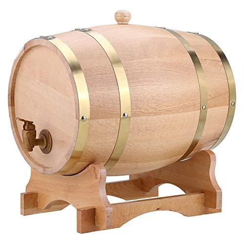 GOTOTO 10L Botte Vino Legno Rovere, Botte di Vino Dispenser, Botte da Vino in Legno, Wine Barrel per la conservazione di Vini pregiati, Brandy, Whisky e Tequila