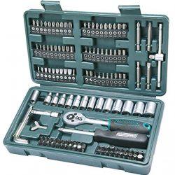 Mannesmann M29166 – Set chiavi a tubo, a cricchetto, In valigetta di plastica, 130 pezzi