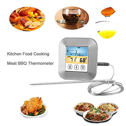 BESTONZON Color Screen Digital Food Thermometer Grill Oven Smoker Thermometer with Probe for Kitchen Cafe Restaurant Bar 5
