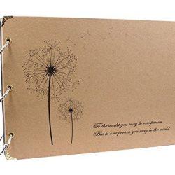 Album Scrapbook, YouKing fai da te, foto, album, e di auto-adesivo album con le protezioni Foglio, 10 x 7 pollici
