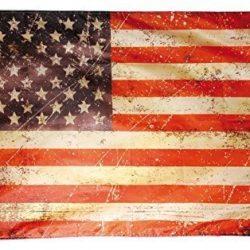 Flaggenking Bandiera King USA Vintage Retro Resistente agli Agenti atmosferici/Bandiera Stelle e Strisce, Multicolore, 150x 90x 1cm