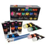 Crafts 4 All – Pittura acrilica professionale, set da colori acrilici XL (75 ml), kit per pittura su tela, legno, argilla, tessuto, unghie, ceramica e artigianato. Per studenti e professionisti