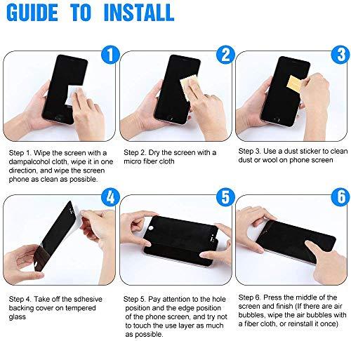iPhone 7 Plus/iPhone 8 Plus Vetro Temperato, SONWO Pellicola Protettiva per Apple iPhone 7 Plus/iPhone 8 Plus Vetro Temperato, Anti graffio, Senza Bolle, Alta Definizione, Facile da Pulire, 2 Pezzi 8