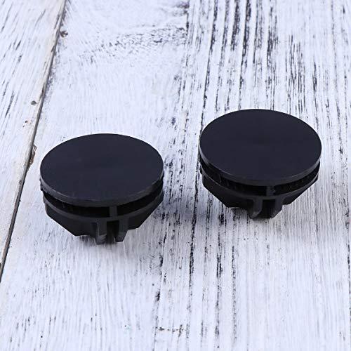 Vosarea, 20 connettori in plastica, per telai tubolari metallici di armadietti cubici (nero) 10