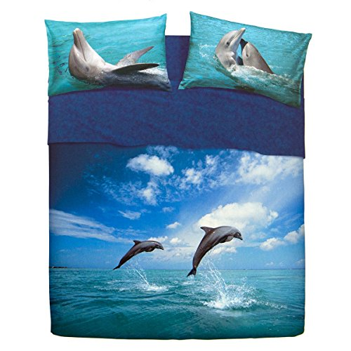 Completo lenzuola Water Dancing Dolphin di Bassetti – dimensioni varie R696 Matrimoniale 3