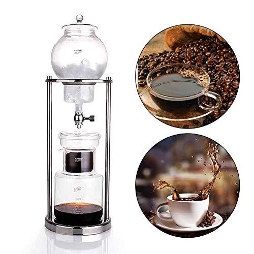 xiangpian183 Macchina per caffè a Goccia Fredda con Filtro in Vetro – Macchina per caffè Freddo Dripper Espresso Caffettiera per caffè Dripper Caffettiera Duth (600 ml / 1000 ml)