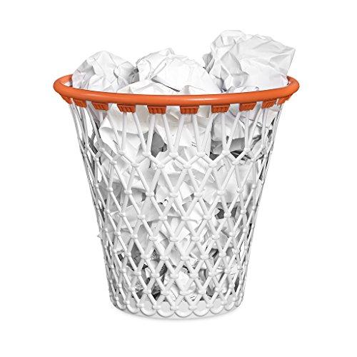 Balvi, Cestino con Divertente Design, Motivo: canestro da Basket, di Colore Bianco, in plastica Resistente