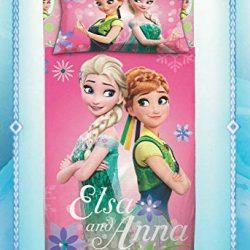 Disney Parure Sacco Copripiumino Frozen Letto Singolo 1 Una Piazza 100% Cotone – Sacca + Federa