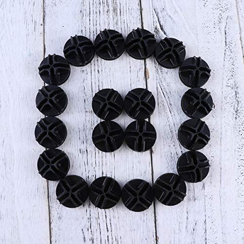 Vosarea, 20 connettori in plastica, per telai tubolari metallici di armadietti cubici (nero) 9