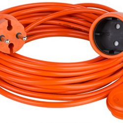 Cavo di prolunga per il giardino, diverse lunghezze (verificare disponibilità) colore: arancione