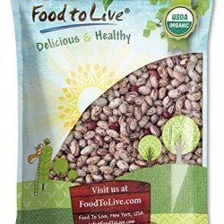 Fagioli Cranberry Bio, 5 Libbre – Biologico, Organic, Fagioli borlotti secchi, semi non OGM, kosher, fagioli grezzi alla rinfusa, prodotto degli Stati Uniti