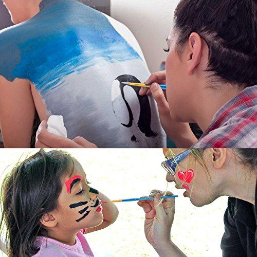 10Pennelli, 2tavolozza, Premium Nylon pennelli per acquerello, acrilico e olio ecc perfetto set di pennelli per principianti, per bambini, ARTISTA e amante della Pittura Pittura Pennello 5