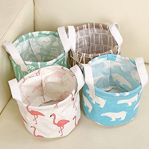 iTemer Storage Bag Home Tessuto Impermeabile cesta portaoggetti Portatile Cotone Cestino portaoggetti 6