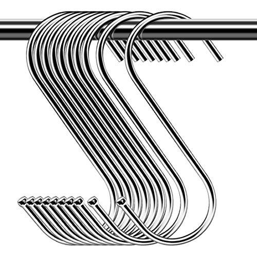 Confezione da 30 ganci a S in metallo resistente, ganci a forma di S, per utensili da cucina, ufficio, bagno, armadio, officina, garage, ufficio, casa, set essenziale