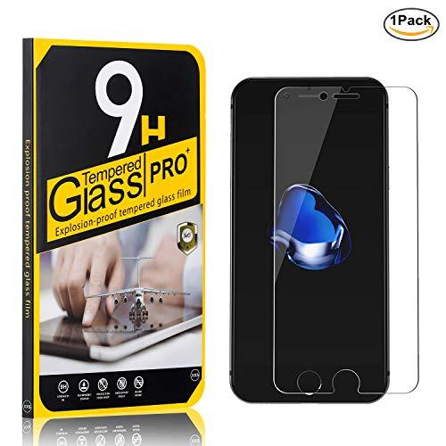 Pellicola Vetro Temperato per iPhone 7 / iPhone 8, NBKASE HD Alta Trasparente Pellicola Protettiva per Apple iPhone 7 / iPhone 8, [Anti-graffio], 1 Pezzi 2
