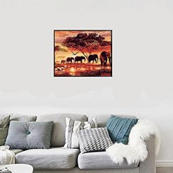 bigie DIY oil painting Paint by number kit con paesaggio Peaple Pbn Home Wall Art 40,6x 50,8cm