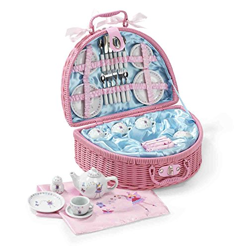 Lucy Locket Set da tè (set cucina giocattolo, cucina bimbi, giochi cucina per bambini) (set da tè con 32 pezzi) rosa