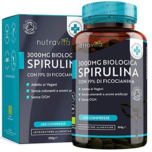 SPIRULINA BIO Vegavero® | L'UNICA con 1000 mg per compressa | SENZA ADDITIVI | 270 compresse | Vegan