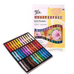 MONT MARTE Pastelli Morbidi – 36 pizzi – Colori a gesso, Pastel Gessetto – Ideale per la Pittura colorata ed espressiva – Perfetto per Principianti, Professionisti e Artisti