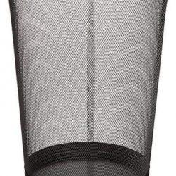 EUROXANTY cestino per la carta | 27 x 24 cm | Pattumiera nera circolare | Cestino carta ufficio | In rete | Griglia metallica | 10 L