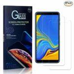 Galaxy A7 2018 Pellicola Vetro Temperato, NBKASE HD 9H Durezza Alta Trasparente Protezione Schermo, Vetro Temprato Premium per Samsung Galaxy A7 2018, Anti Graffio, 2 Pezzi