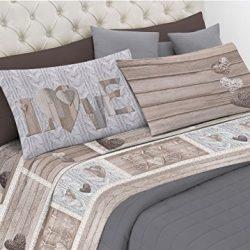 Italian Bed Linen Max Color Lenzuolo Sopra Tinta Unita, 100% Cotone