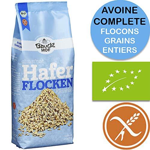 Fiocchi Di Avena Senza Glutine 'Integrale' Bio 475g | Fiocchi Avena Bio Certificata Senza Glutine 100% Biologico Senza OGM – Senza Conservanti – Senza Zucchero – Avena Integrale