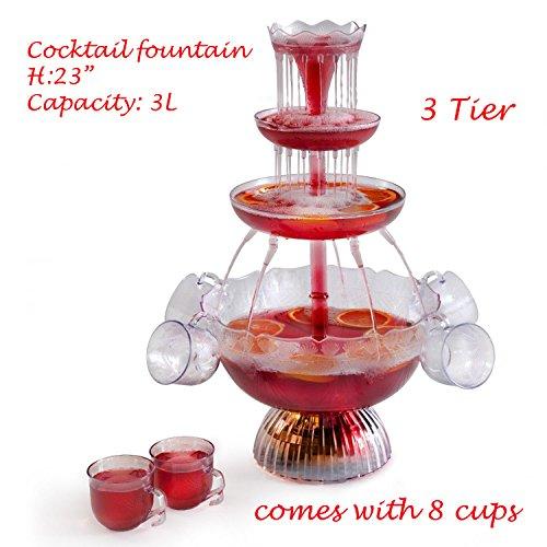 cocktail fontana illuminata per punch elettrico cascata per bevande 2